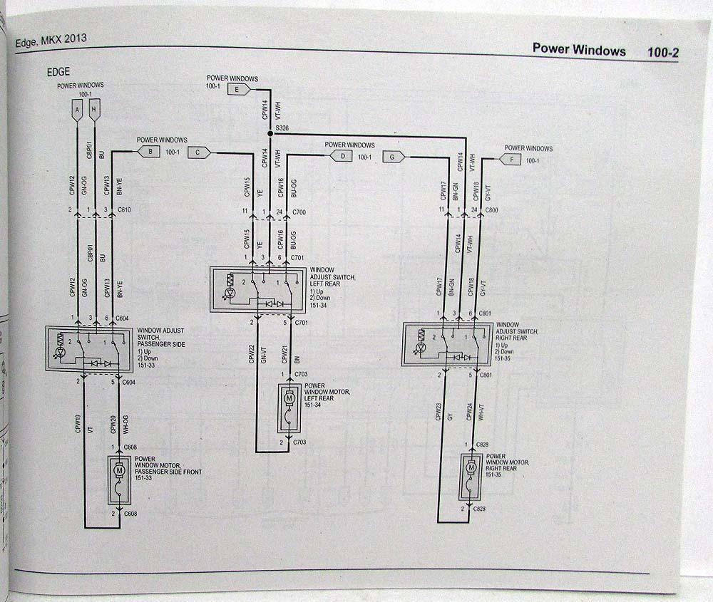 hight resolution of 2013 ford edge and lincoln mkx electrical wiring diagrams manual 2013 ford edge tail light wiring diagram 2013 ford edge wiring diagram