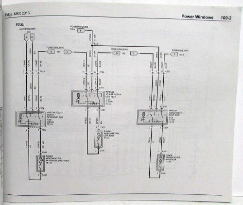 small resolution of 2013 ford edge and lincoln mkx electrical wiring diagrams manual 2013 ford edge tail light wiring diagram 2013 ford edge wiring diagram