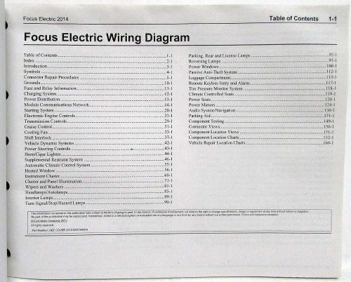 small resolution of 2014 ford focus electric electrical wiring diagrams manual ford focus dashboard symbols 2014 ford focus wiring