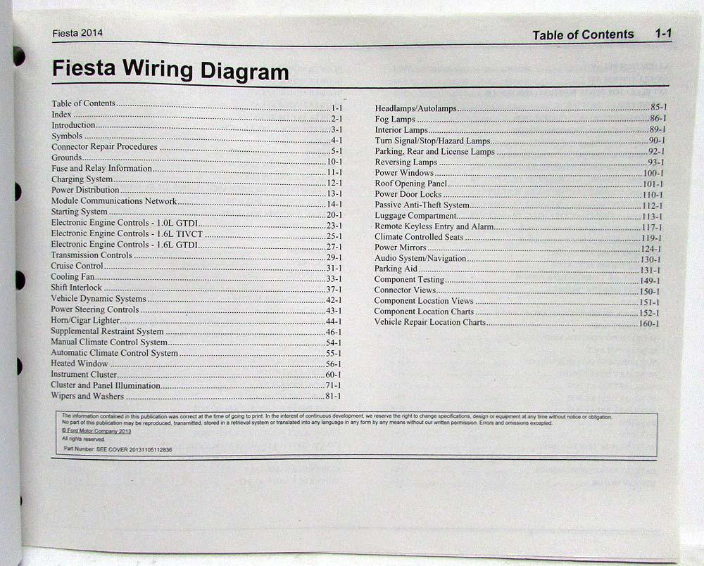 medium resolution of 2014 ford fiesta electrical wiring diagrams manual 2014 ford fiesta wiring diagram