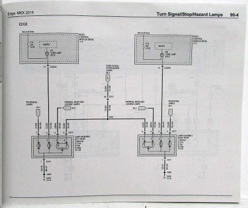 small resolution of 2014 ford edge and lincoln mkx electrical wiring diagrams manual