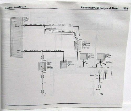 small resolution of 2014 ford expedition lincoln navigator electrical wiring diagrams manual