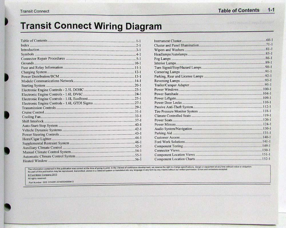 medium resolution of 2014 ford transit connect electrical wiring diagrams manual 2014 ford transit connect wiring