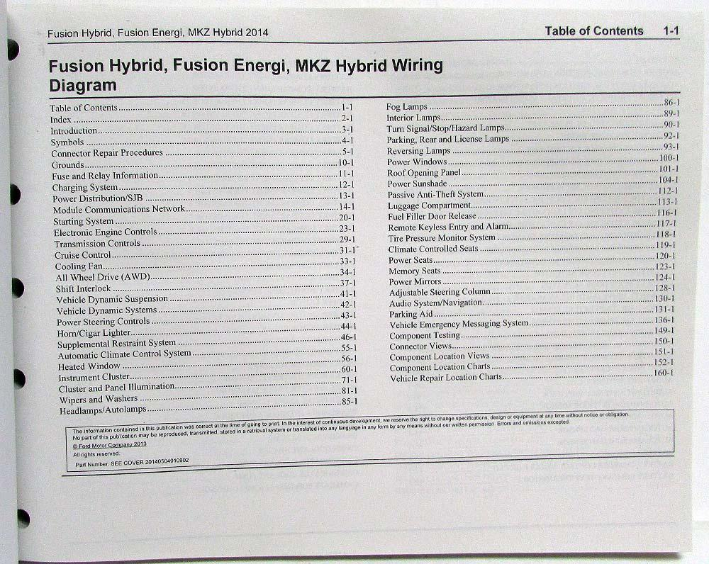 medium resolution of 2014 ford fusion energi lincoln mkz hybrid electrical wiring diagrams manual