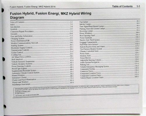 small resolution of 2014 ford fusion energi lincoln mkz hybrid electrical wiring diagrams manual