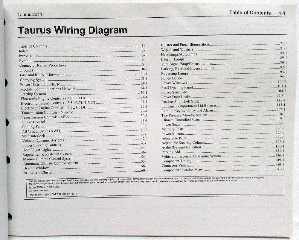 hight resolution of 2014 ford tauru wiring diagram