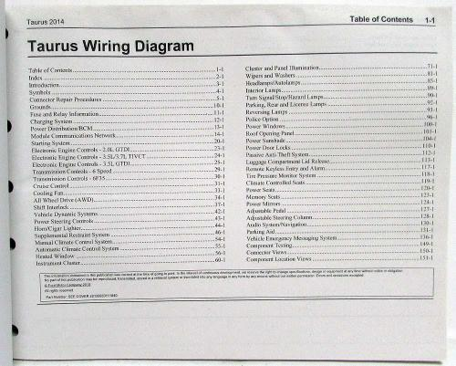 small resolution of 2014 ford tauru wiring diagram