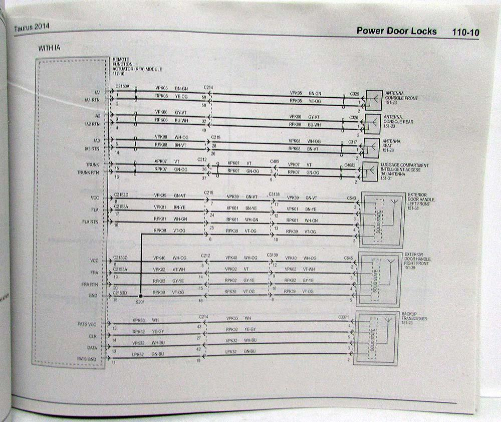 medium resolution of 2014 ford tauru wiring diagram