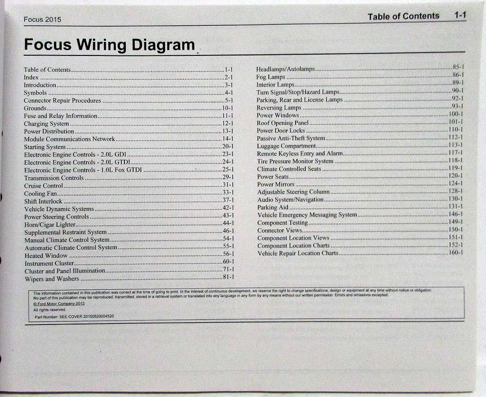 medium resolution of 2015 ford focus st electrical wiring diagrams manual 2013 ford focus wiring diagram at lighting wiring