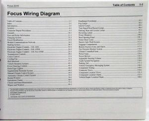 2015 Ford Focus ST Electrical Wiring Diagrams Manual