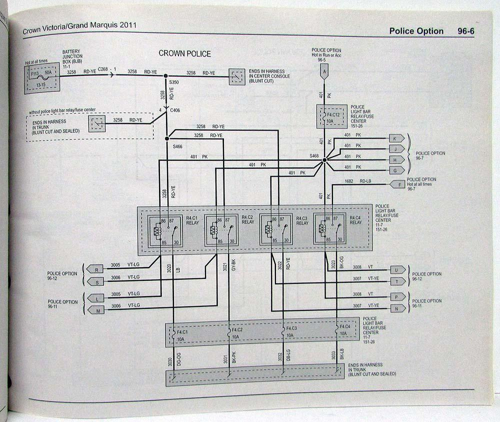 medium resolution of 2011 ford crown victoria mercury grand marquis electrical wiring diagrams