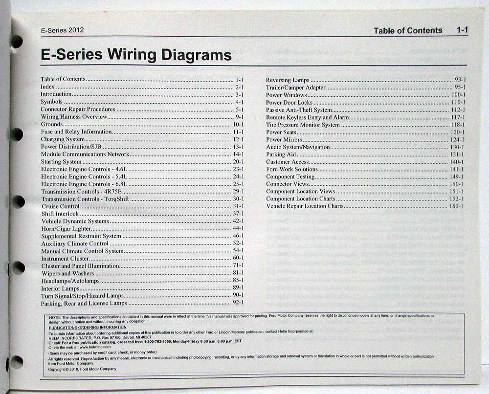 hight resolution of 2012 ford econoline club wagon e series electrical wiring diagrams manual