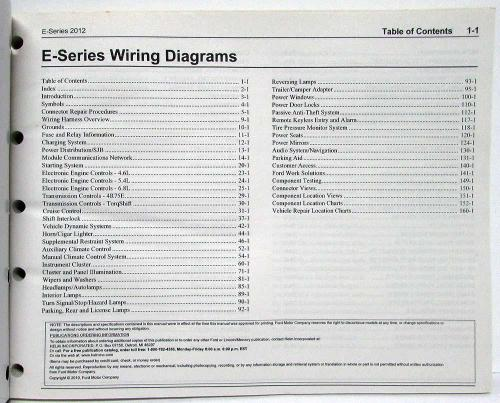 small resolution of 2012 ford econoline club wagon e series electrical wiring diagrams manual