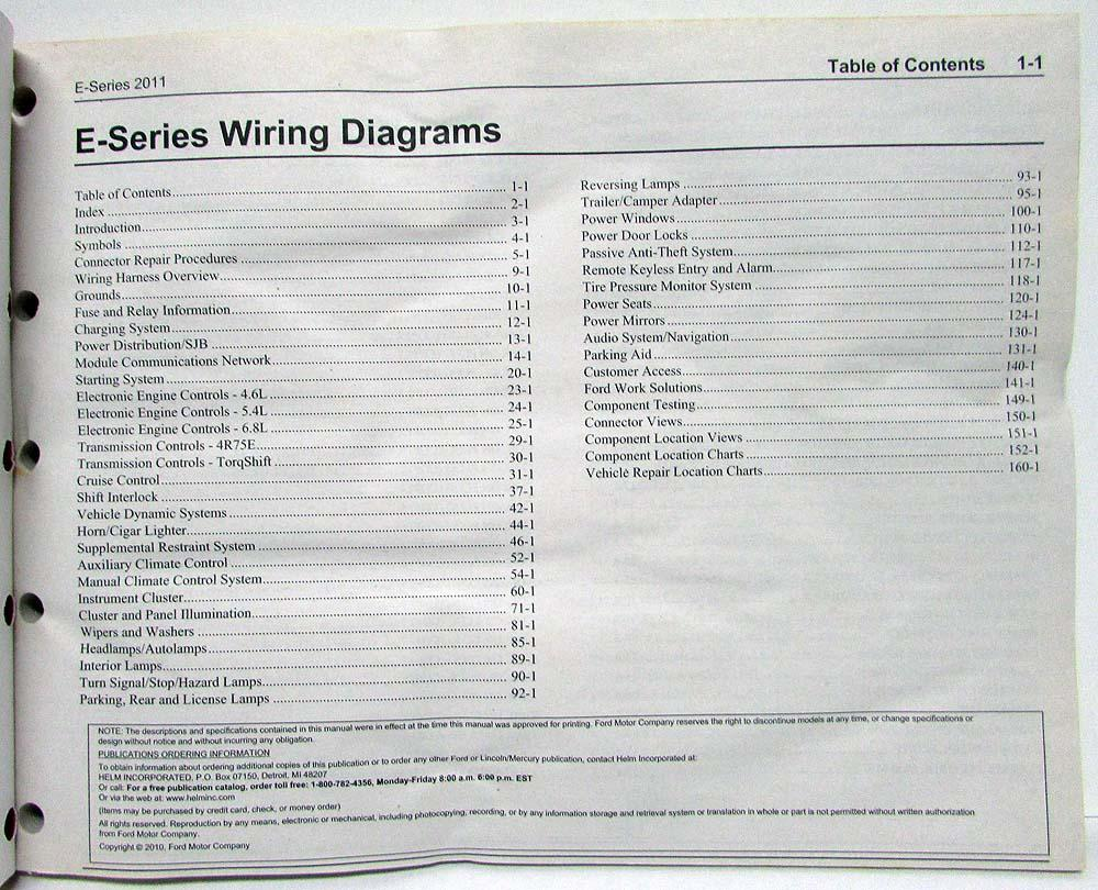 medium resolution of 2011 ford econoline club wagon e series electrical wiring diagrams manual