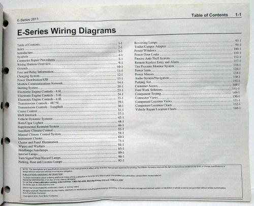 small resolution of 2011 ford econoline club wagon e series electrical wiring diagrams manual