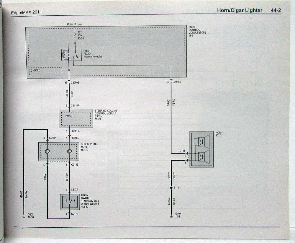hight resolution of 2011 ford edge and lincoln mkx electrical wiring diagrams manual
