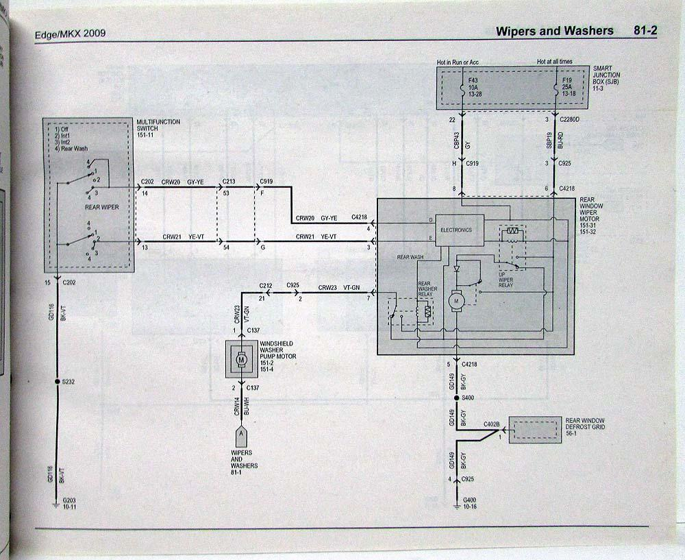 medium resolution of 2009 ford edge wiring schematic