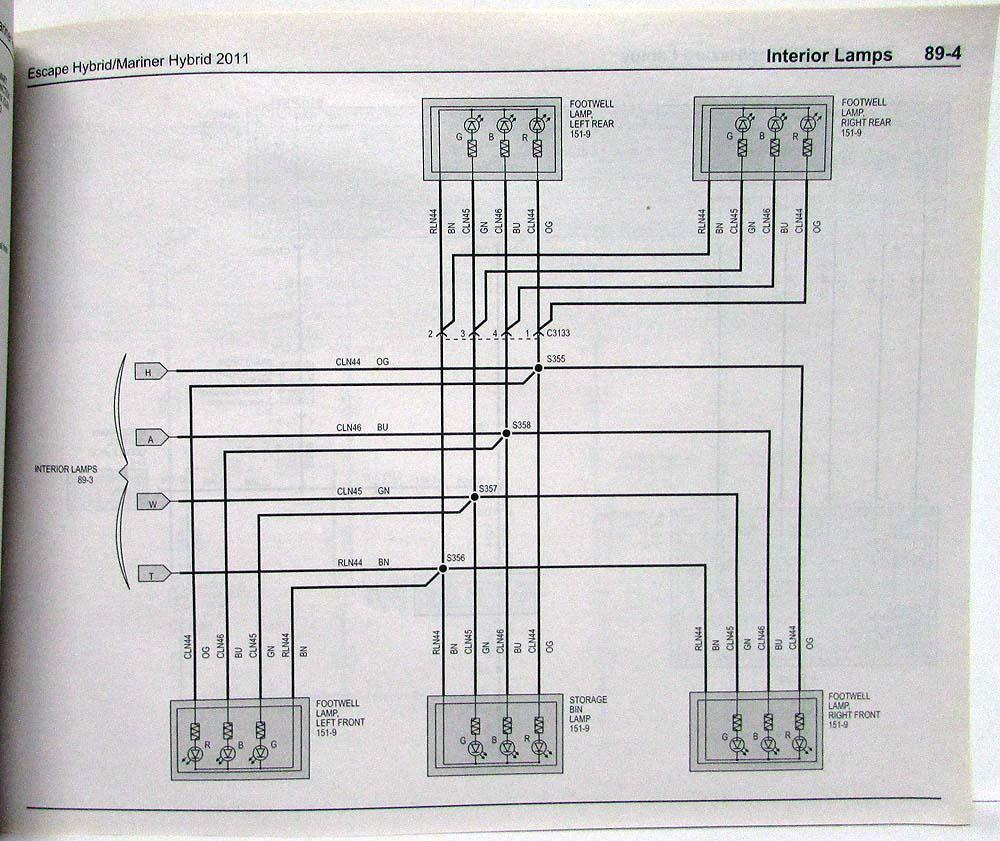 medium resolution of 2011 ford escape mercury mariner hybrid electrical wiring diagrams manual