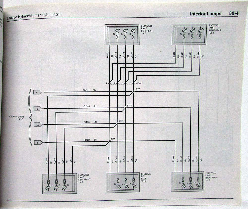 hight resolution of 2011 ford escape mercury mariner hybrid electrical wiring diagrams manual