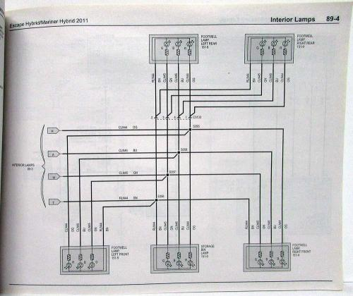 small resolution of 2011 ford escape mercury mariner hybrid electrical wiring diagrams manual