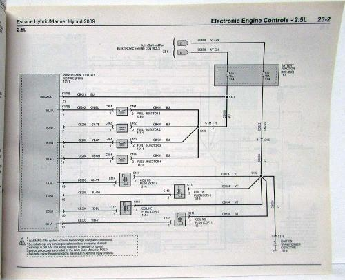 small resolution of 2009 ford escape mercury mariner hybrid electrical wiring diagrams manual