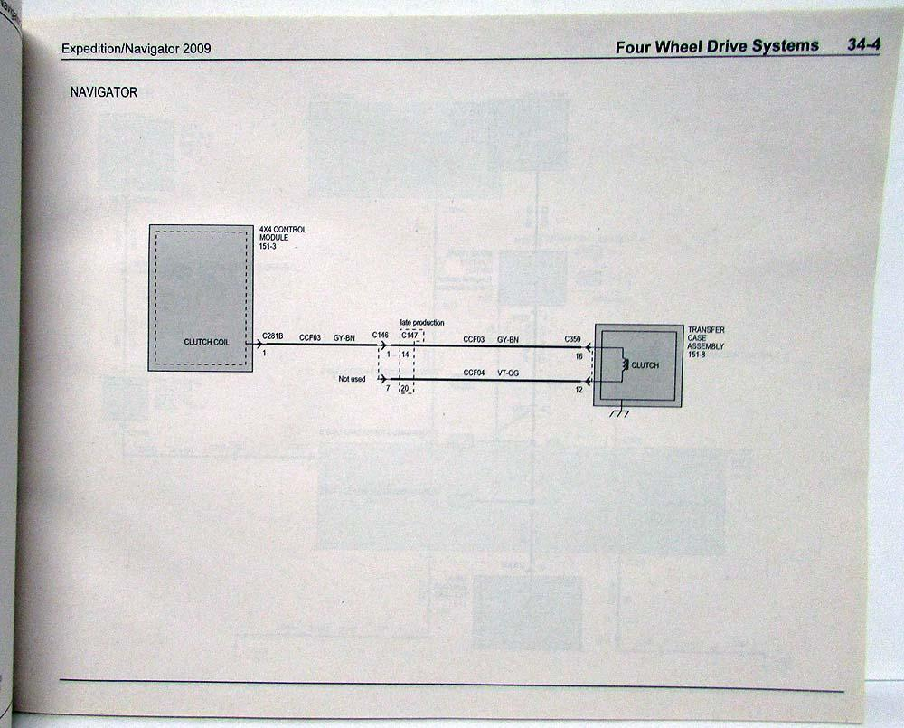 hight resolution of 2009 ford expedition lincoln navigator electrical wiring diagrams manual
