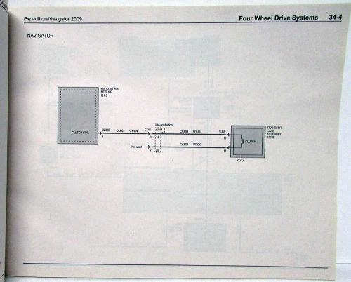small resolution of 2009 ford expedition lincoln navigator electrical wiring diagrams manual