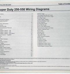 2009 ford f 250 350 450 550 super duty pickup electrical wiring diagrams manual [ 1000 x 807 Pixel ]