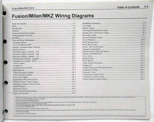small resolution of 2010 ford fusion lincoln mkz mercury milan electrical wiring diagrams manual