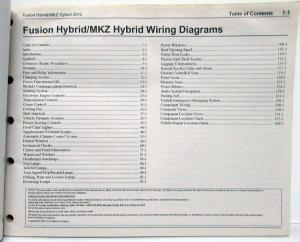 2012 Ford Fusion & Lincoln MKZ Hybrids Electrical Wiring
