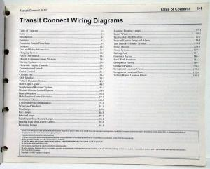 2012 Ford Transit Connect Electrical Wiring Diagrams Manual