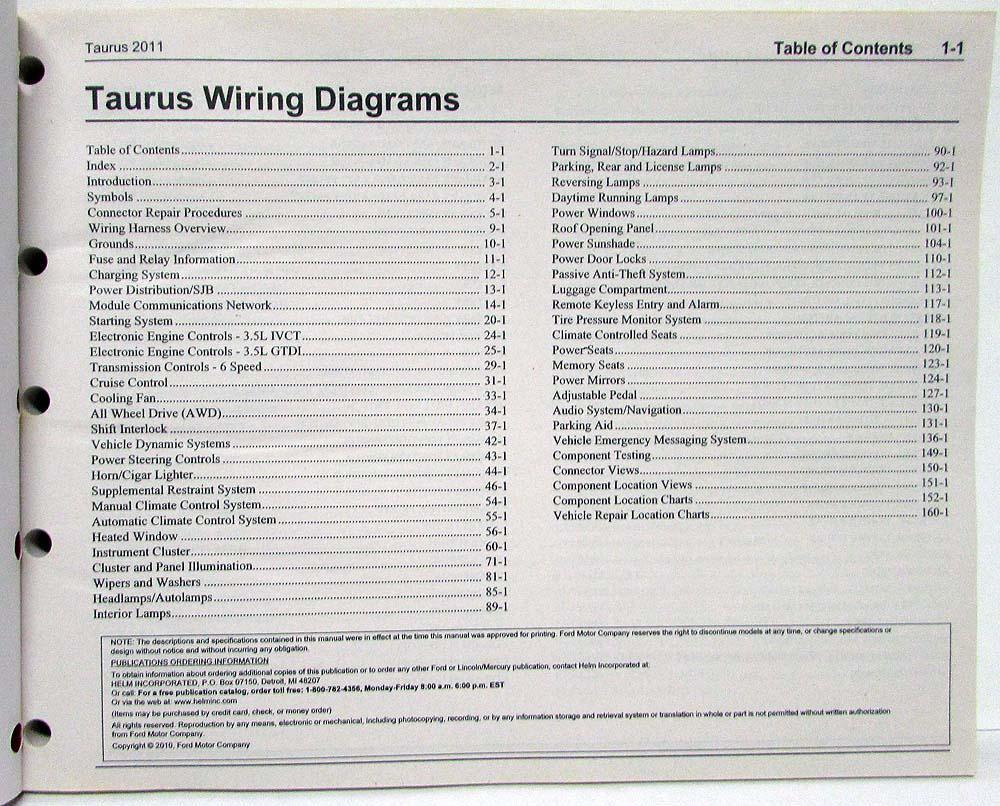 medium resolution of 2011 ford tauru wiring diagram