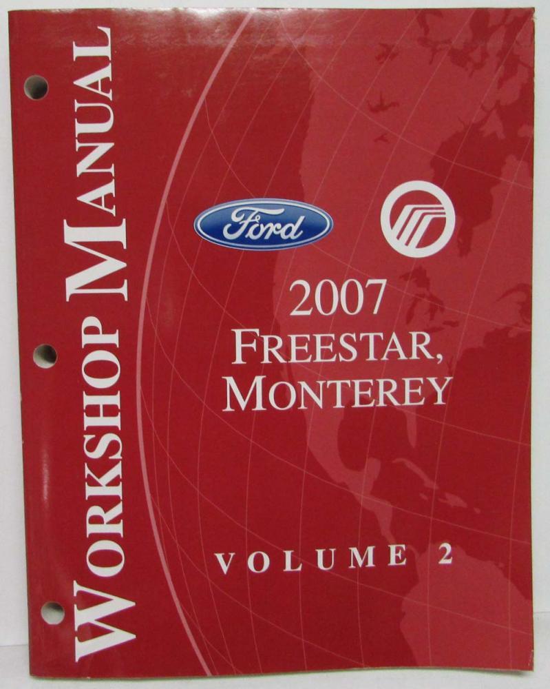 hight resolution of 2007 ford freestar mercury monterey service shop repair manual set vol 1 2