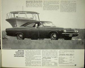 1968 Plymouth Got A Trailer Get A Plymouth Original Dealer Sales Brochure