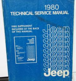 1980 jeep dealer service shop manual repair cj5 cj7 cherokee wagoneer truck [ 847 x 1000 Pixel ]