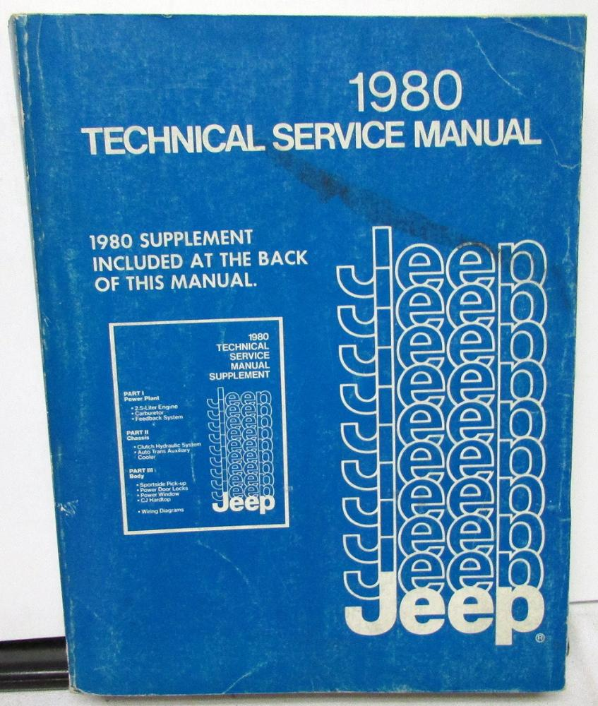 hight resolution of 1980 jeep dealer service shop manual repair cj5 cj7 cherokee wagoneer truck