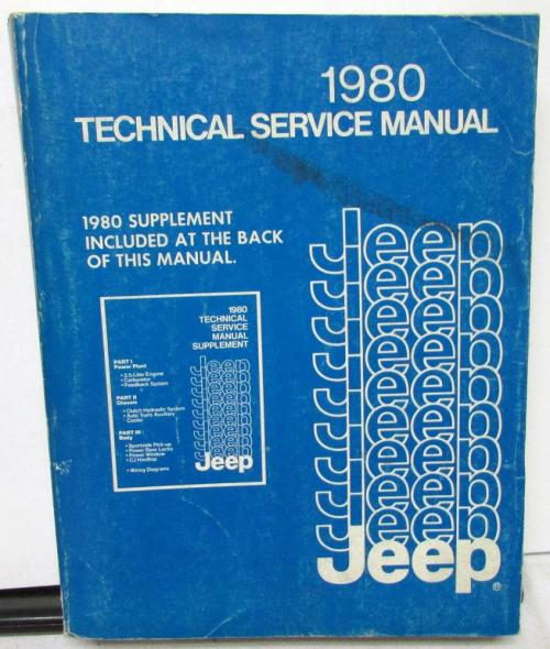 small resolution of 1980 jeep dealer service shop manual repair cj5 cj7 cherokee wagoneer truck