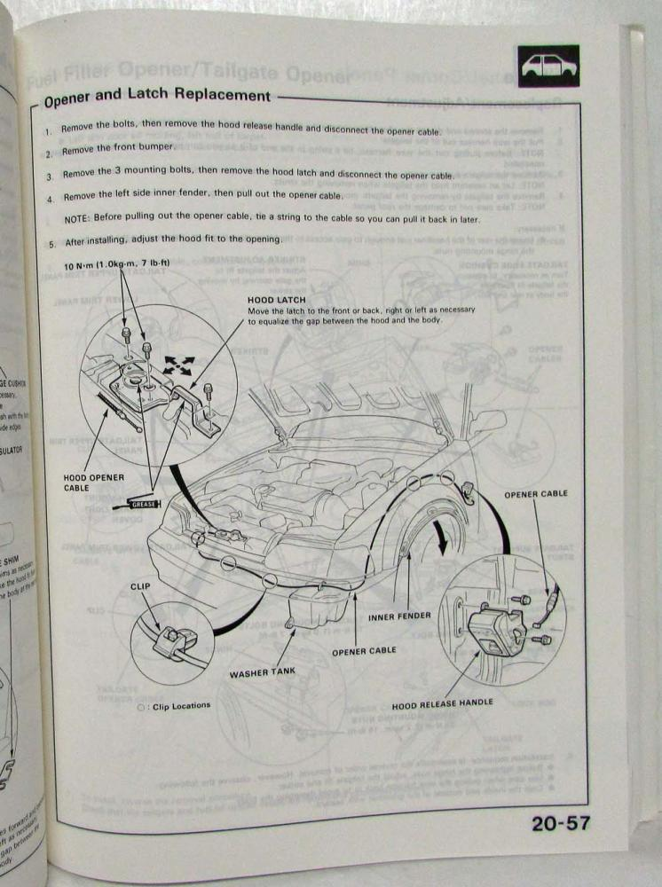 1989 Honda Civic CRX Service Shop Repair Manual
