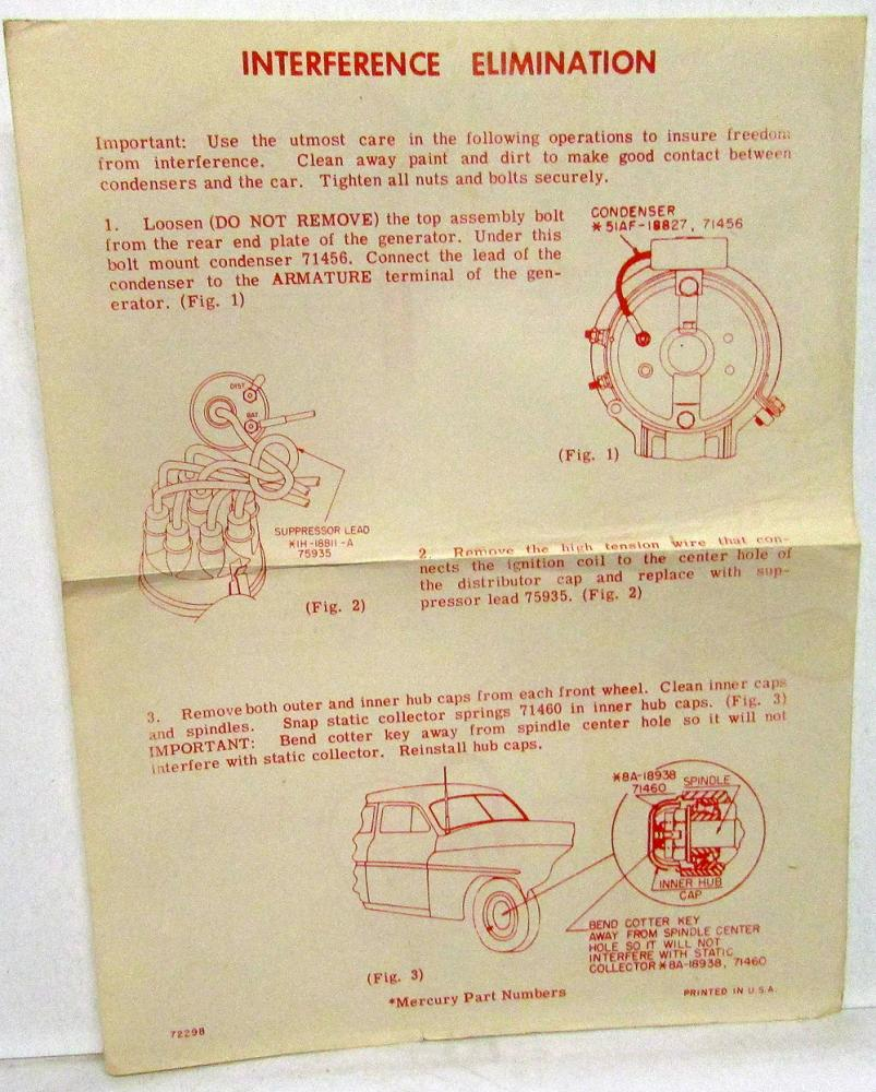 hight resolution of  1951 1949 1951 mercury radio owners manual installation operating on 1951 plymouth