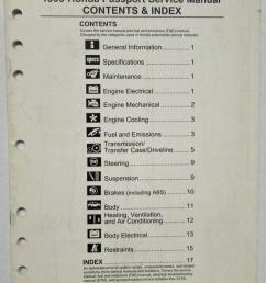 1999 honda passport service shop manual fuel emissions contents index [ 793 x 1000 Pixel ]
