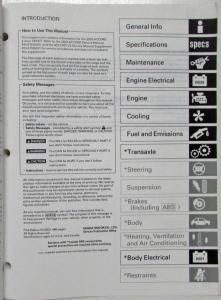 2003 Honda Accord V6 M/T Service Shop Repair Manual Supplement