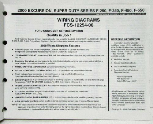 small resolution of 2000 ford excursion f 250 350 450 550 superduty electrical wiring diagram manual