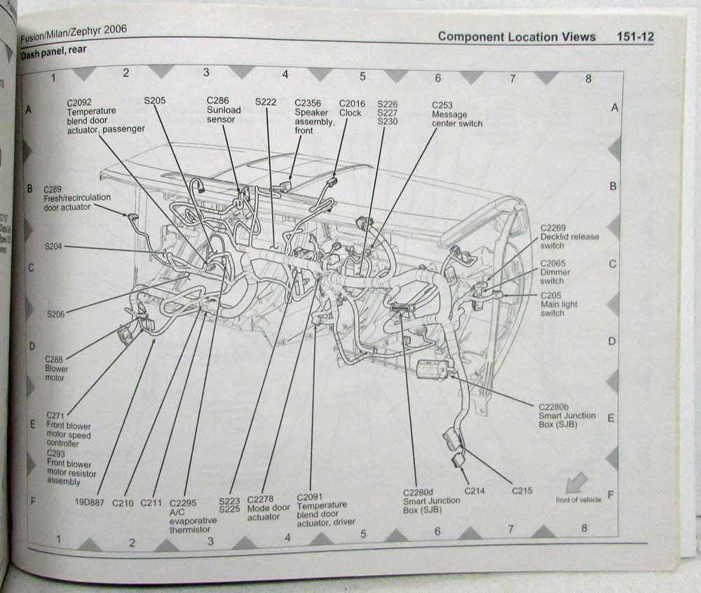 hight resolution of 2006 ford fusion mercury milan lincoln zephyr electrical wiring diagrams manual