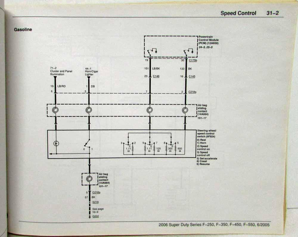 hight resolution of 2006 ford f 250 350 450 550 super duty pickup electrical wiring diagrams manual