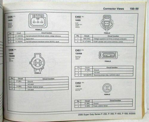 small resolution of 2006 ford f 250 350 450 550 super duty pickup electrical wiring diagrams manual