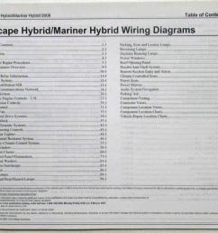 2008 ford escape mercury mariner hybrid electrical wiring diagrams manual [ 1000 x 802 Pixel ]