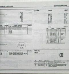 2008 ford escape mercury mariner hybrid electrical wiring diagrams manual [ 1000 x 834 Pixel ]