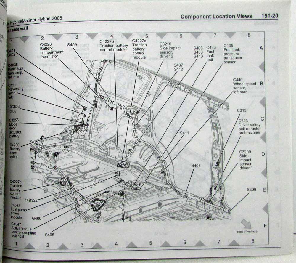 medium resolution of 2008 ford escape mercury mariner hybrid electrical wiring diagrams manual