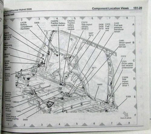 small resolution of 2008 ford escape mercury mariner hybrid electrical wiring diagrams manual