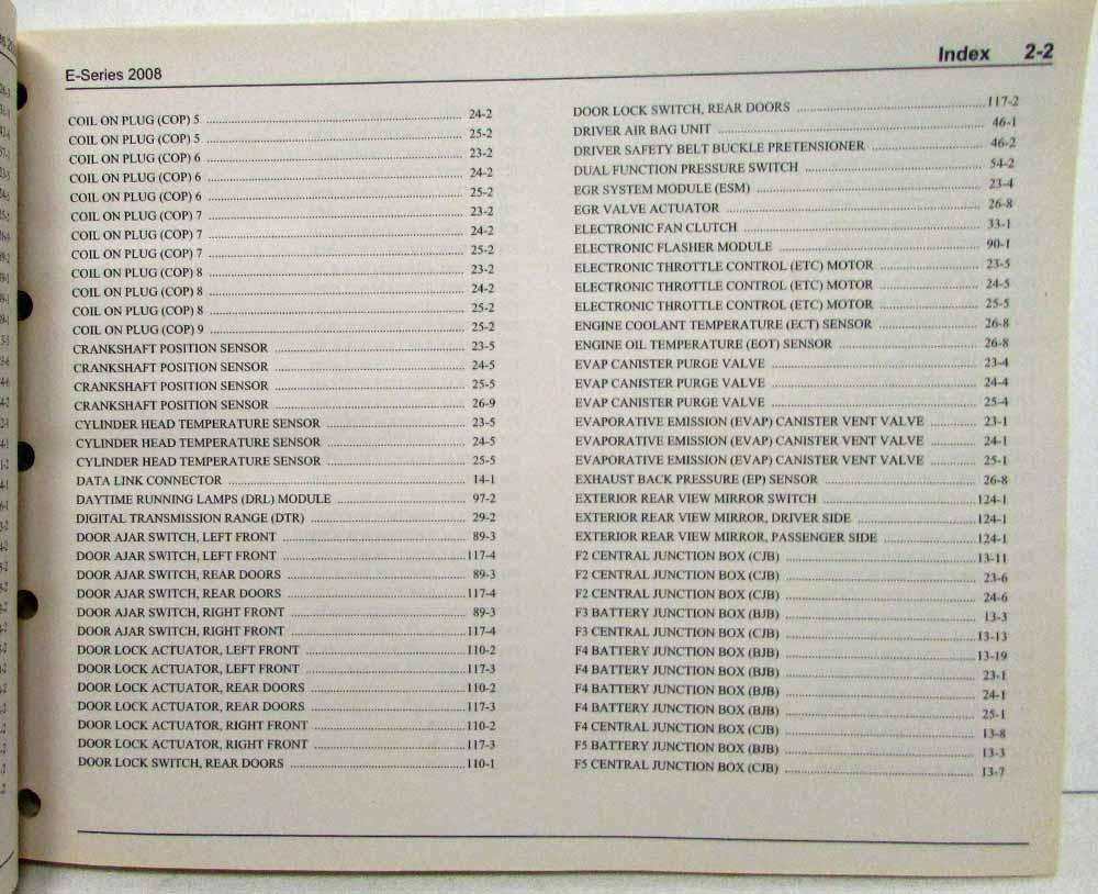 medium resolution of 2008 ford econoline club wagon e series van electrical wiring diagrams manual